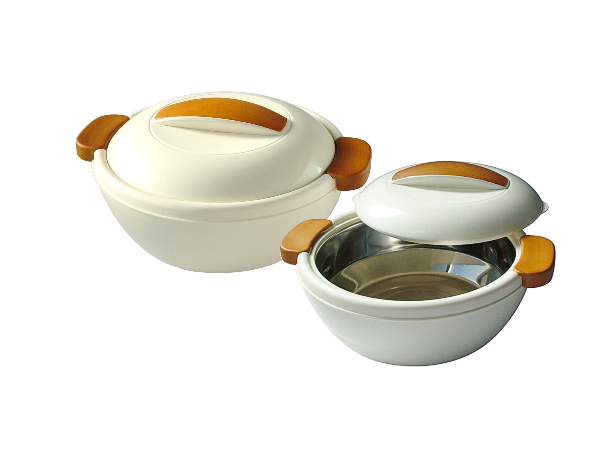 Enjoy set contenitore termico 1 1 l 2 4 l bianco crema for Portavivande termico