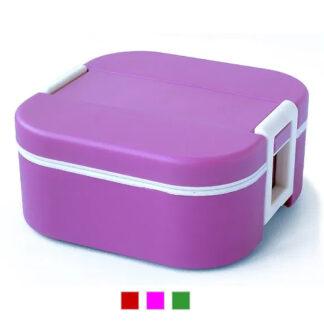 Lunchbox termico quadrato 1 vaschetta con borsa