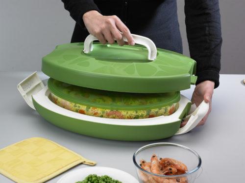 chef carrier ovale verde trasporto